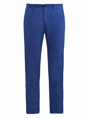 Roc satin slim-fit chino trousers