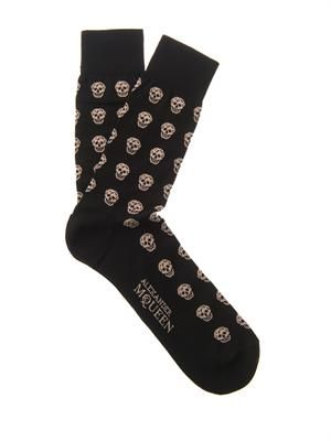 Skull cotton-blend socks