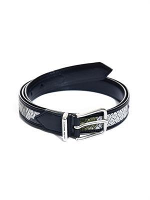Camo python-skin belt