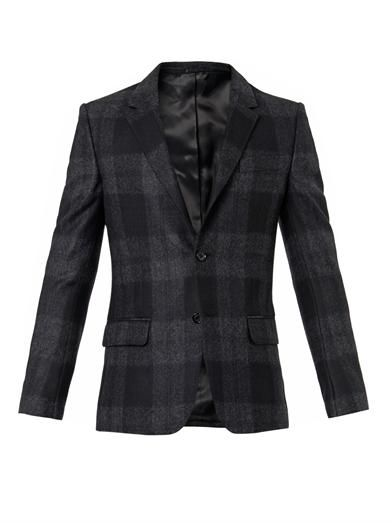 Alexander McQueen Single-breasted checked blazer