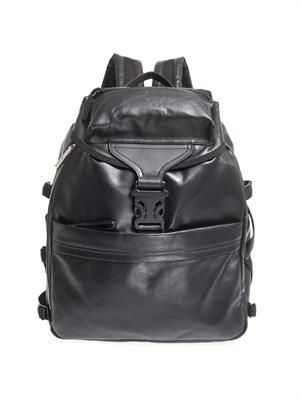 Leather tech backpack