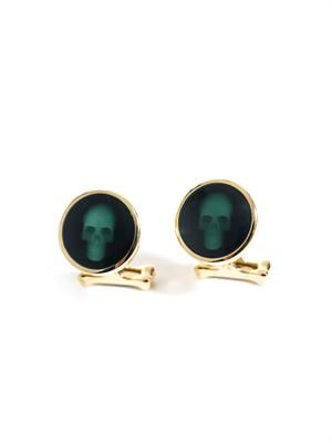 Hologram skull cufflinks