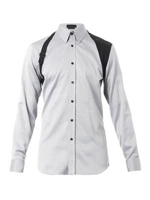 Chevron-weave harness shirt