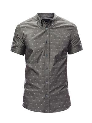 Skull repeat print shirt