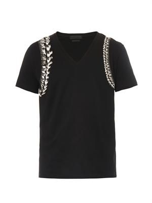 Spine harness-print T-shirt