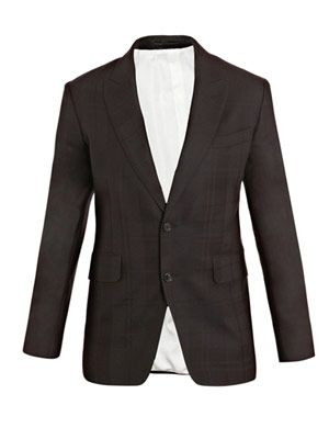 Black watch subtle-plaid jacket