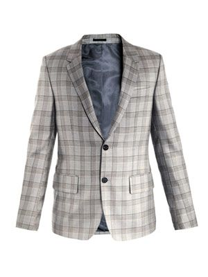Check single-breasted jacket