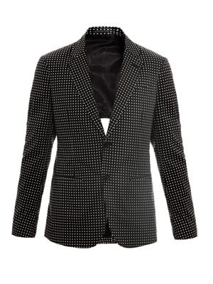 Diamond-print jacket
