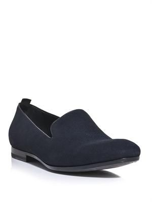 Brushed suede loafers