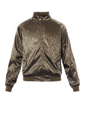 Skull-jacquard lightweight jacket