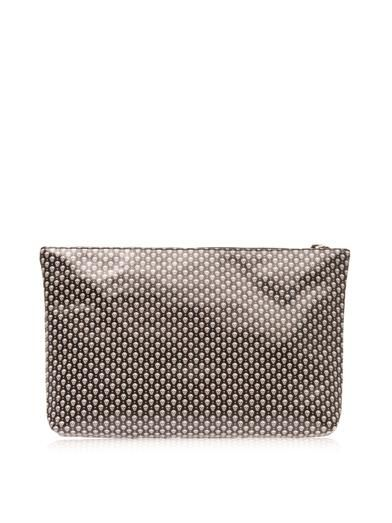Alexander McQueen Micro skull-print leather pouch