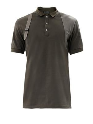 Harness shoulder detail polo shirt