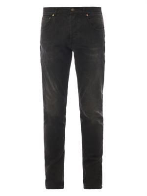 Washed-denim skinny jeans
