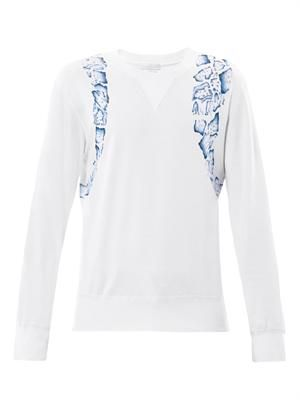Animal harness-print sweatshirt