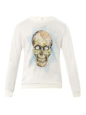 Skull and map-print sweatshirt