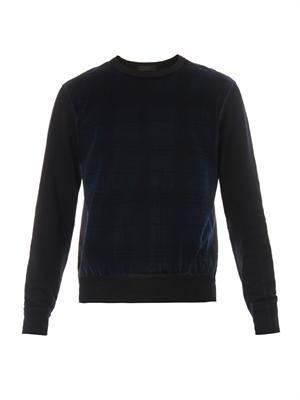 Contrast-panel sweatshirt