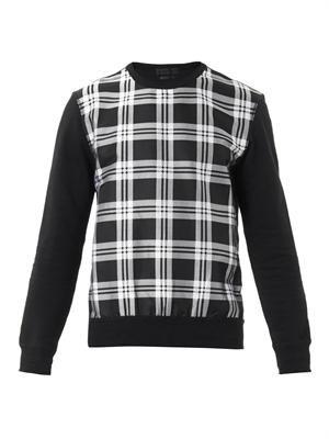 Check-front sweatshirt