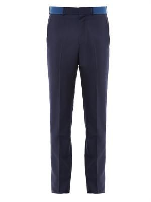 Contrast waistband trousers