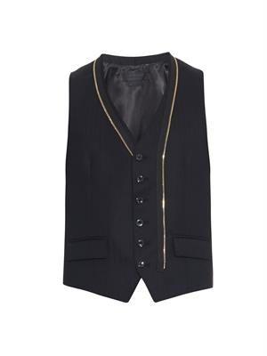 Herringbone-weave waistcoat