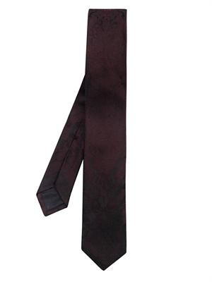 Tortoiseshell embroidered silk tie