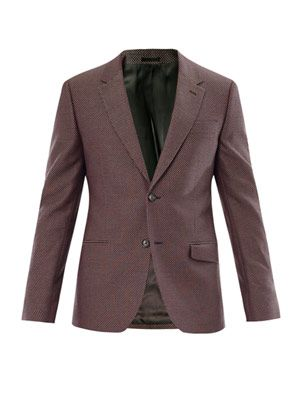 Piqué weave tailored jacket