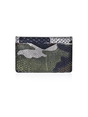 Camo python skin card holder