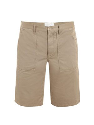 Gabardine cotton shorts