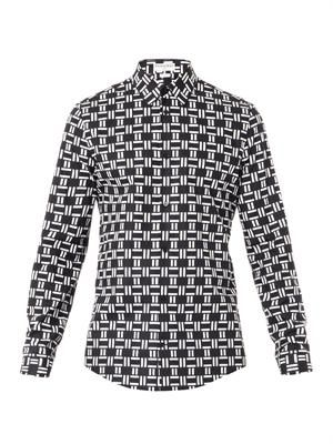 Domino-print shirt