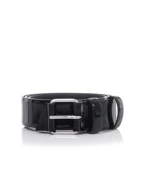 Classic patent leather belt