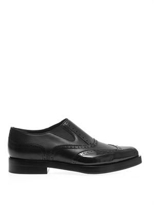 Rudie slip-on leather brogues