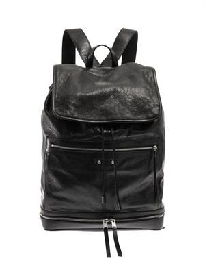Traveller leather backpack