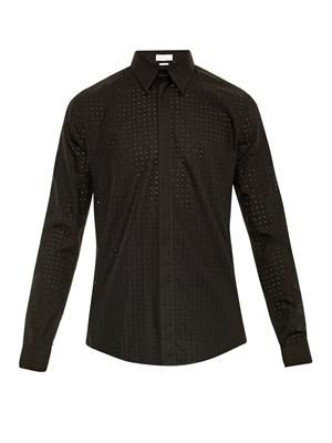 Laser-cut cotton shirt