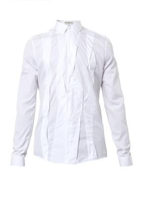 Plissé cotton shirt