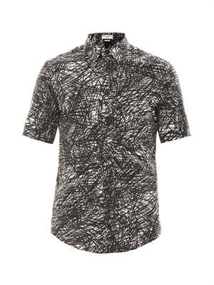 Noise print short sleeve shirt