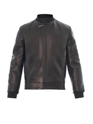 Nappa leather bomber jacket