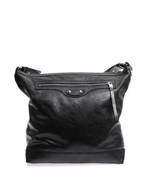 Classic leather messenger bag