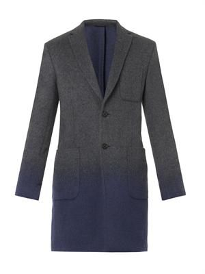 Dégradé wool coat