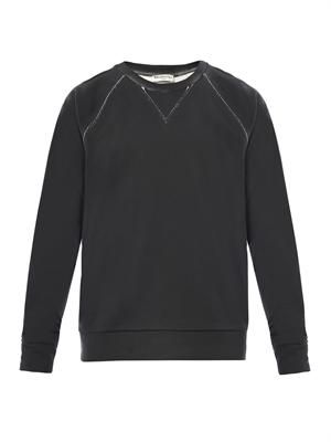 Coated cotton-jersey sweatshirt