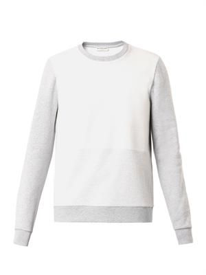 Contrast-panel cotton sweatshirt