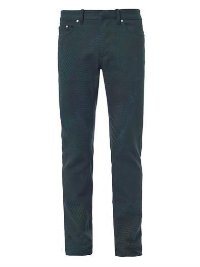 Balenciaga Snake-print straight-leg jeans