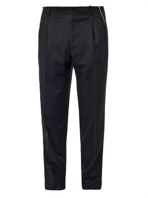Side zip tailored trousers