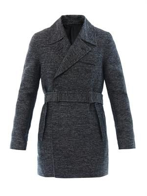 Tweed dot double-breasted coat