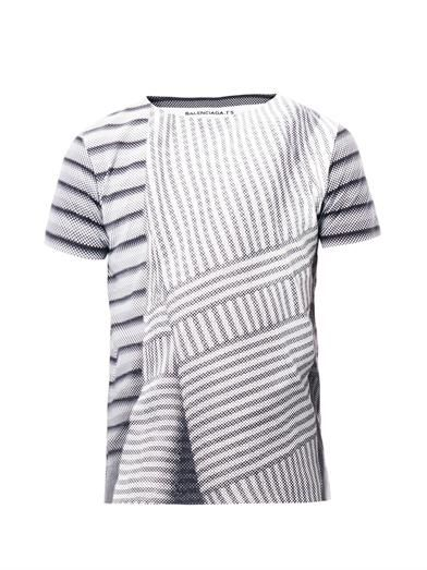 Balenciaga Graphic stripe-print T-shirt