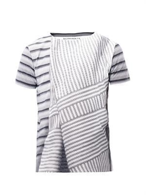 Graphic stripe-print T-shirt