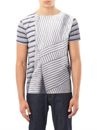 Balenciaga Graphic stripe-print T-shirt
