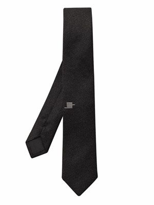 Graphic silk and wool-blend tie