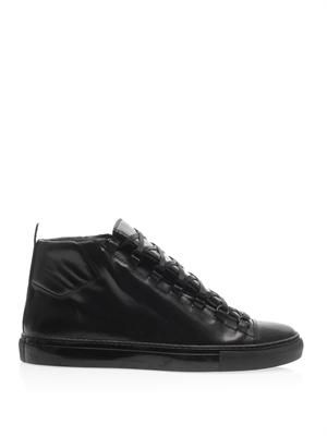Arena high-top leather trainers