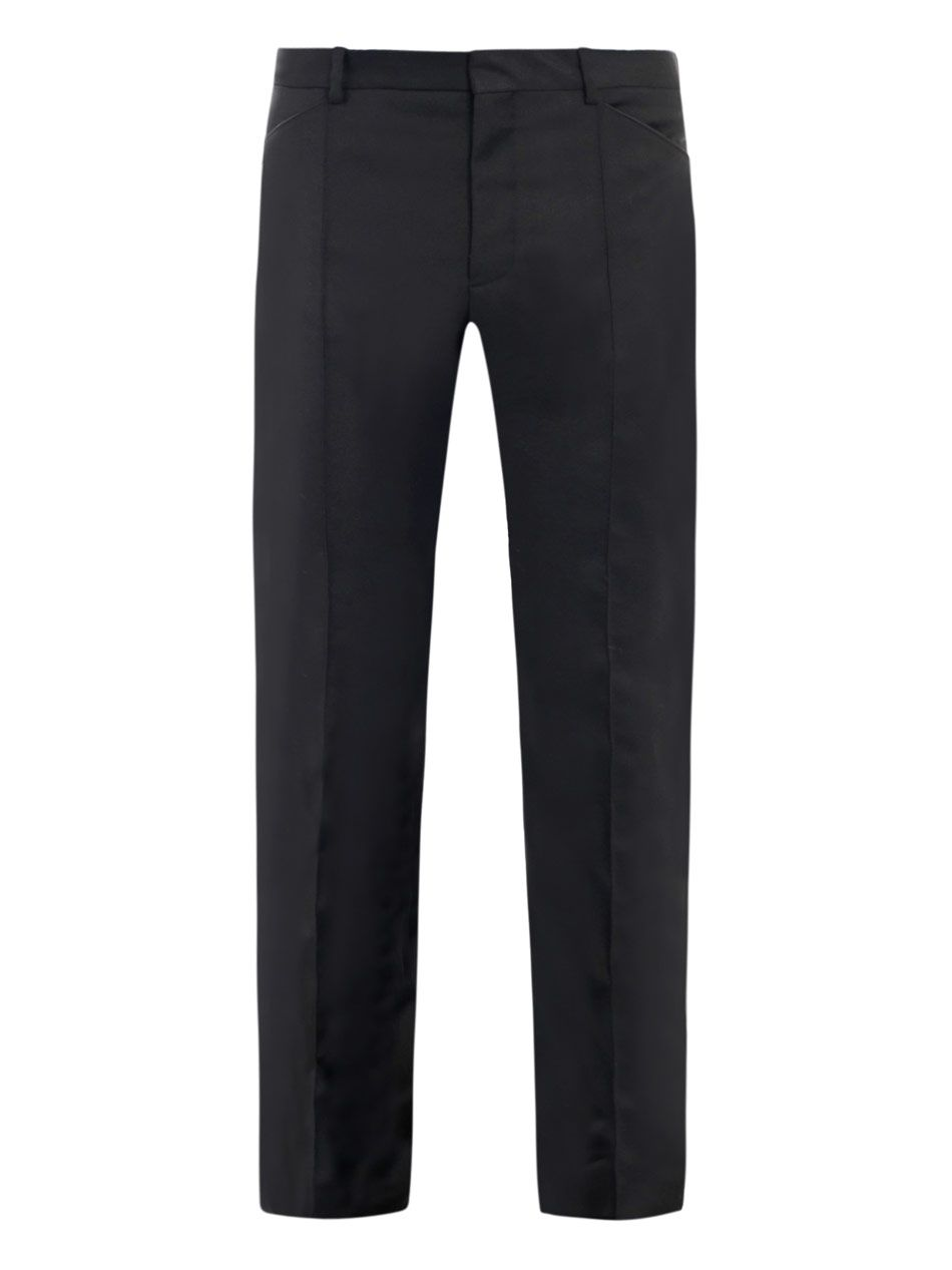 Piped detail trousers