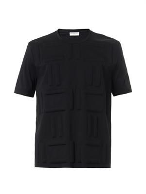 Quilted-patch cotton T-shirt