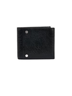 Square leather bi-fold wallet